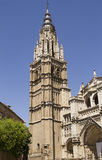 Cathedral of Toledo, Spain. Tower of the cathedral of Toledo in Spain Royalty Free Stock Image