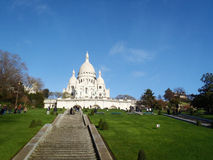 Cathedral with tourists in France, Paris, Europe Royalty Free Stock Photo