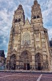 Cathedral in Tours in Indre et Loir at Loire Valley Stock Images