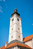 Cathedral tower. Historic Cathedral and monastery tower in Varazdin city Stock Images