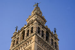 Cathedral Tower. Top of the tower of Sevilla's cathedral Royalty Free Stock Image