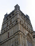 Cathedral Tower. English Cathedral Tower stock photo
