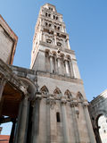 Cathedral tower. Tower of cathedral in Split, Croatia, previously roman palace Royalty Free Stock Images