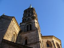 Cathedral tower Bamberg. Tower of the Bamberg cathedral royalty free stock photo