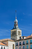 The cathedral tower, landscape. The tower of an ancient cathedral that is part of an ancient city in Spain Stock Images