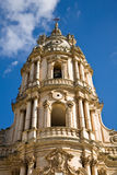 Cathedral Tower of Modica in Sicily. The baroque cathedral of Modica in southern Sicily in Italy Royalty Free Stock Photography