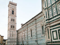 Cathedral and Tower on Piazza del Duomo in morning Royalty Free Stock Photos