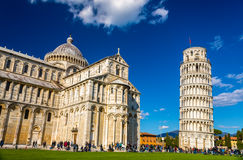 The Cathedral and the Tower of Pisa Stock Photos