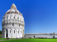 Cathedral, Tower of Pisa in Miracle square. Pisa Royalty Free Stock Photo