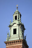 Cathedral Tower, Wawel Hill, Krakow Stock Photo