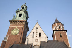 Cathedral Tower, Wawel Hill, Krakow Stock Images