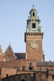 Cathedral Tower, Wawel Hill, Krakow Stock Photos
