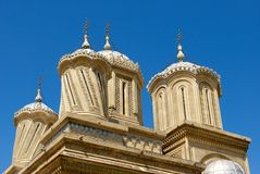 Cathedral Towers. In Curtea De Arges, Romania Royalty Free Stock Photography