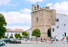 Cathedral in town Faro, Portugal Royalty Free Stock Photography