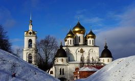 Cathedral in the town fortress in Dmitrov Stock Photos