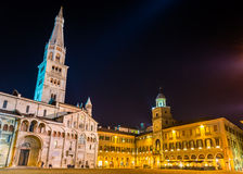 Cathedral and Town Hall of Modena Royalty Free Stock Photography