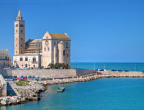 The Cathedral of Trani. Apulia. Touristic port with Cathedral. Trani. Apulia Royalty Free Stock Photography