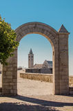 The Cathedral of Trani seen throught an arch Stock Photo