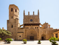 Cathedral of Transfiguration of the Lord in   Huesca Royalty Free Stock Photography