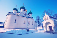 Cathedral of the Transfiguration  at Suzdal in winter Royalty Free Stock Photo