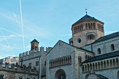Cathedral of Trento. Middle of Trento. A view of Cathedral Royalty Free Stock Image