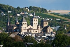Cathedral of Trier, Germany. View or the cathedral of Trier, Germany stock image