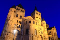 Cathedral in trier by night Stock Photos