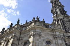 Cathedral Trinitatis Top from Dresden in Germany stock image