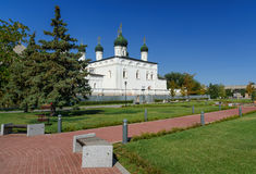 Cathedral of the Trinity in Astrakhan Stock Photography