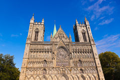 Cathedral in Trondheim Norway Stock Image