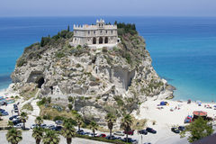 Cathedral of tropea, Calabria, Italy Stock Images