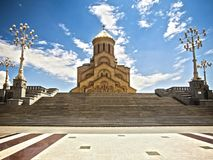 Cathedral of Tsminda Sameba Stock Images