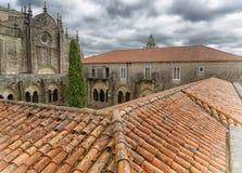 Tui, Camino de Santiago, Spain. Cathedral of Tui, Camino de Santiago trail, Spain, Europe stock photography