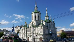 Cathedral in Tyumen royalty free stock photography