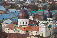 The cathedral in Ukraine Stock Images