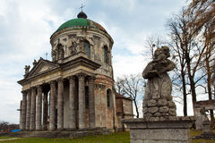 The cathedral in Ukraine, near Lvov Royalty Free Stock Photos