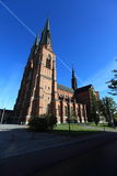 Cathedral in uppsala,sweden Royalty Free Stock Photos