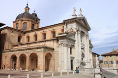 Cathedral of Urbino. Landscape view of Urbino Cathedral, Italy Royalty Free Stock Photography