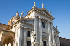 Cathedral of Urbino. Landscape view of Urbino Cathedral, Italy Royalty Free Stock Photo