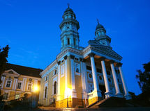 Cathedral in Uzhgorod city. Royalty Free Stock Image