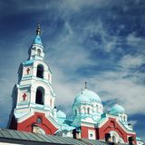 Cathedral of the Valaam monastery on the Valaam. Royalty Free Stock Photos