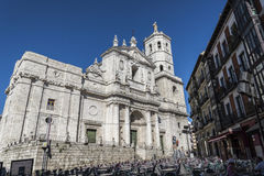 Cathedral of Valladolid Stock Images