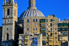Cathedral of Valletta Stock Image