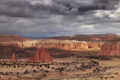 Cathedral Valley, Utah, USA Royalty Free Stock Photos