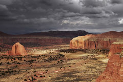 Cathedral Valley, Utah, USA Stock Photo