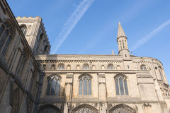 Cathedral and Vapour Trails Royalty Free Stock Images