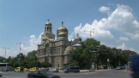 Cathedral in Varna, Bulgaria stock footage