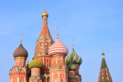 The Cathedral of Vasily Blazhenny on Red square in Moscow Royalty Free Stock Images