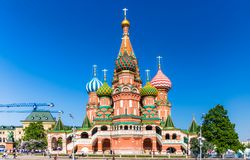 Cathedral of Vasily the Blessed Royalty Free Stock Photography