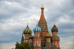 Cathedral of Vasily the Blessed on Red Square Moscow Russia Royalty Free Stock Photos